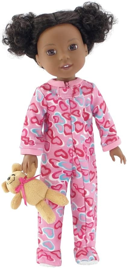 """Bunnies Footie Pajamas fits 14.5/"""" American Girl Wellie Wishers Doll Clothes"""
