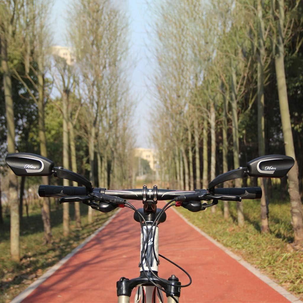 SMILEQ Espejo de Bicicleta Espejo de Acero Inoxidable Manillar ...