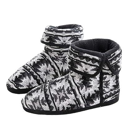 Invierno Zapatillas Impresión interior zapatillas zapatos botín inicio botas de invierno cálido casa botines para hombres