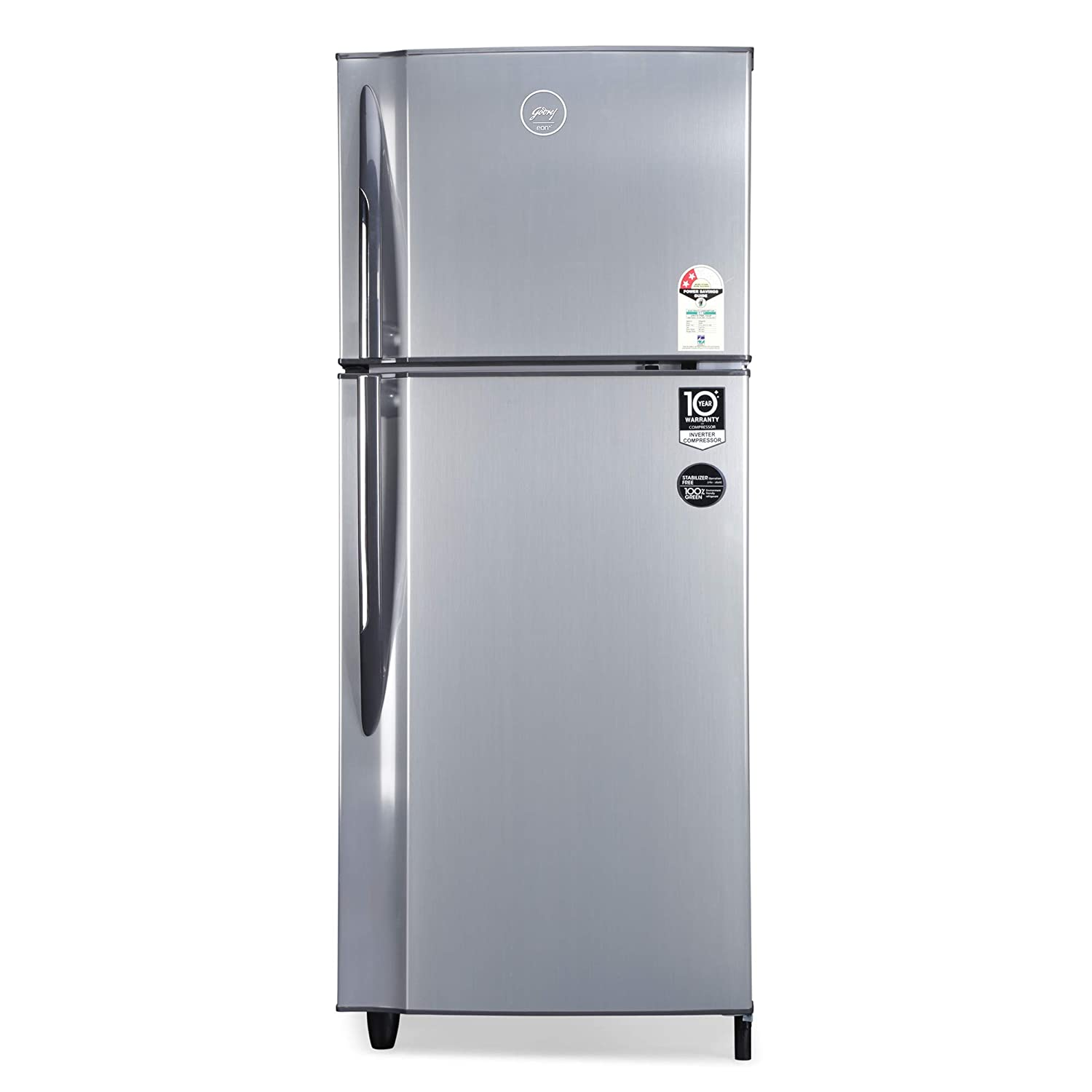Godrej 236 L 2 Star Inverter Frost Free Double Door Refrigerator  RF EON 236B 25 HI SI ST, Stainless Steel