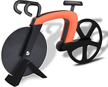 Bangy - Cortador de pizza para bicicleta (acero inoxidable ...