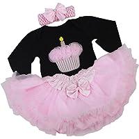 F Fityle Cake Pattern Romper Dress Headband Set for 22''-23'' Reborn Baby Girl Doll