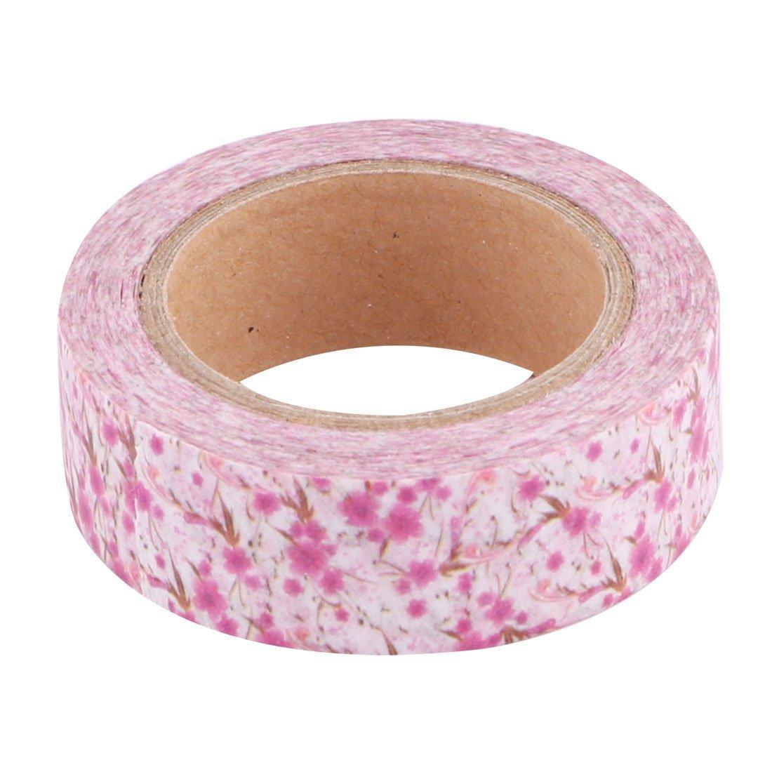 Amazon.com: eDealMax Estampado de Flores de la Familia de bricolaje Libro álbum de fotos Decoración Masking Tape Washi Rollo 10M Longitud 2pcs Fucsia: ...