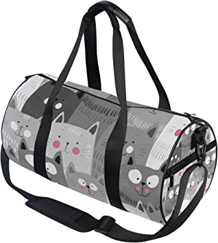 LARGE Kitten Duffel Bag Cute Cat Suitcase or Gym Bag For Men Or Her