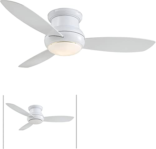 Minka-Aire F474L-WH Concept II 52 Inch 3 Blade Outdoor Ceiling Fan Close to Ceiling