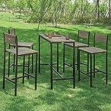 Cheap Haotian Sling High Bistro Set,Home Kitchen Outdoor Garden Bar Set,Patio Furniture, Dining Set (OGT14)