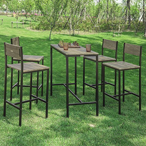 Haotian Sling High Bistro Set,Home Kitchen Outdoor Garden Bar Set,Patio Furniture, Dining Set (OGT14)