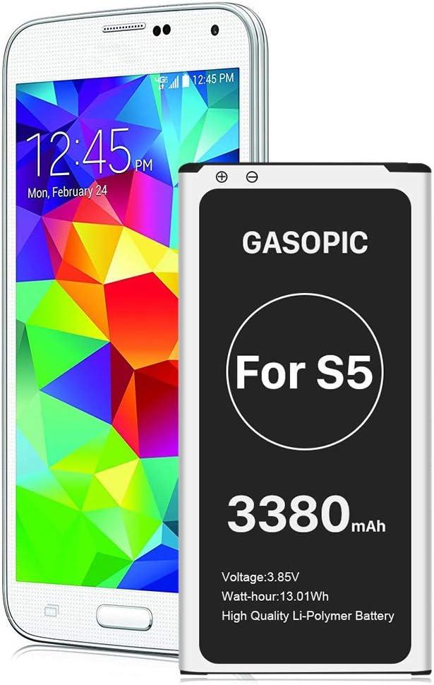 Galaxy S5 Battery, 3380mAh Li-ion Replacement Battery Galaxy S5 Spare Battery for Samsung Galaxy S5 G900A, G900F, G900H,Galaxy S5 Active SM-G870 (AT&T),EB-BG900BBC