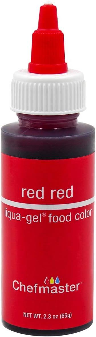 Chefmaster Liqua-Gel Food Color 2.3 oz. - Red Red