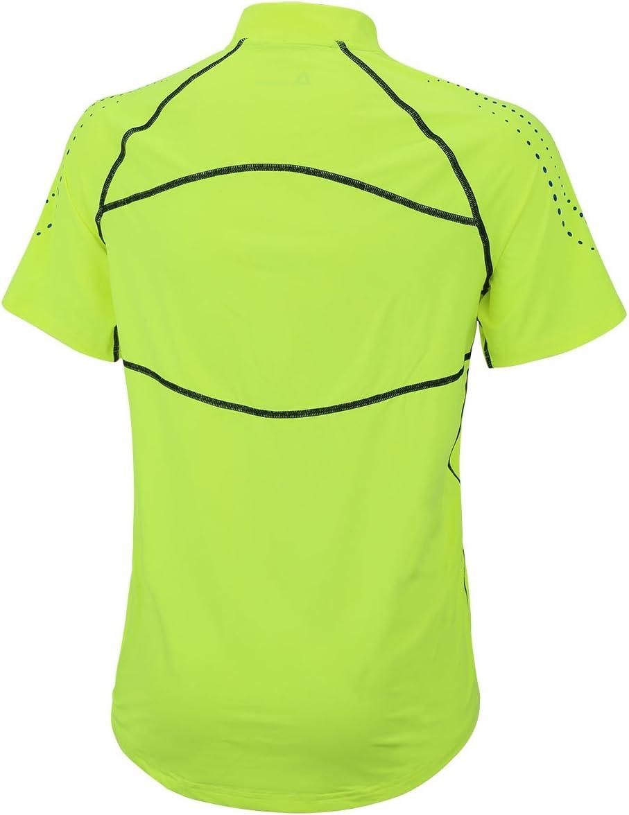 Airtracks T-shirt de course /à pied /à manches longues T-shirt fonctionnel thermique en polaire avec marquages r/éfl/échissants Pour homme et femme