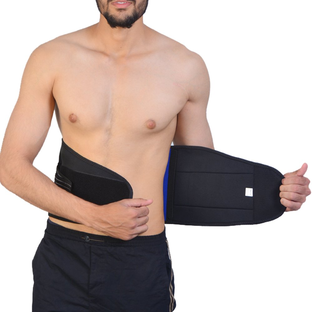 Back Pain//Slipped Disc Pain Relief Small 22-27 Inch 5 Sizes Body And Base Adjustable Neoprene Double Pull Lumbar Support Lower Back Belt Brace