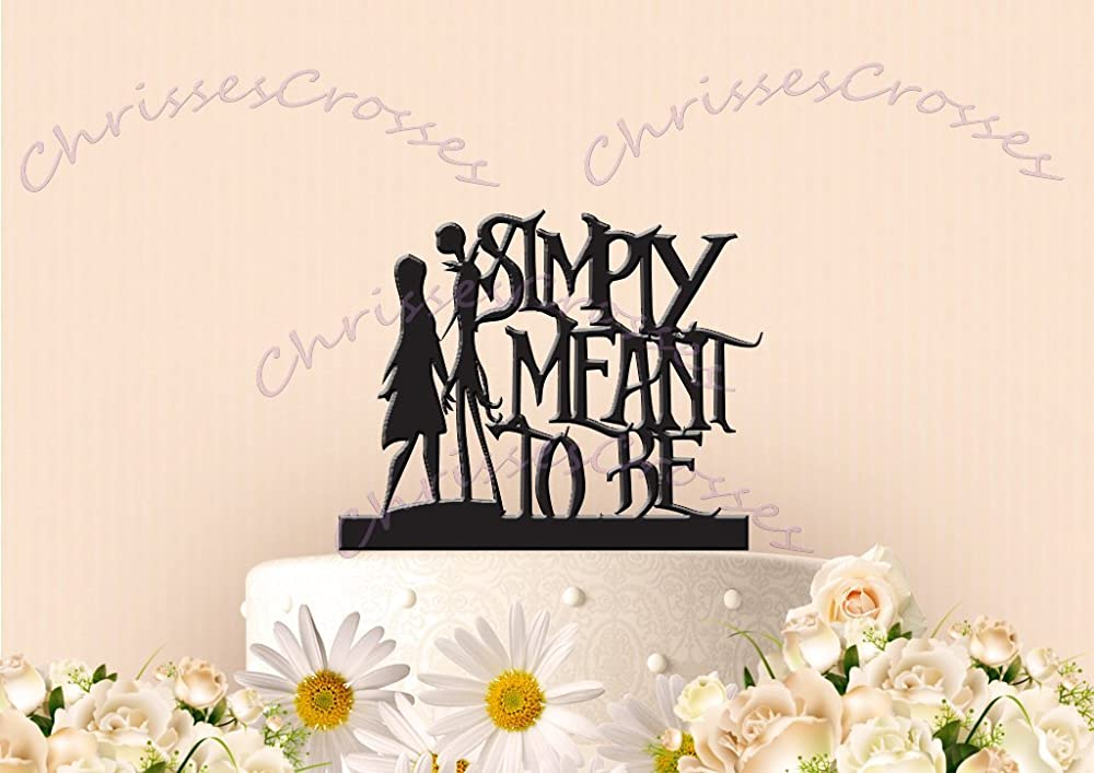 Simply Meant to Be Holding Hands Cake Topper