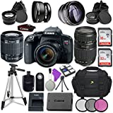 Canon EOS Rebel T7i Digital SLR Camera with Canon EF-S 18-55mm IS STM Lens + Tamron Zoom Telephoto AF 70-300mm f/4-5.6 Autofocus Lens + Accessory Bundle