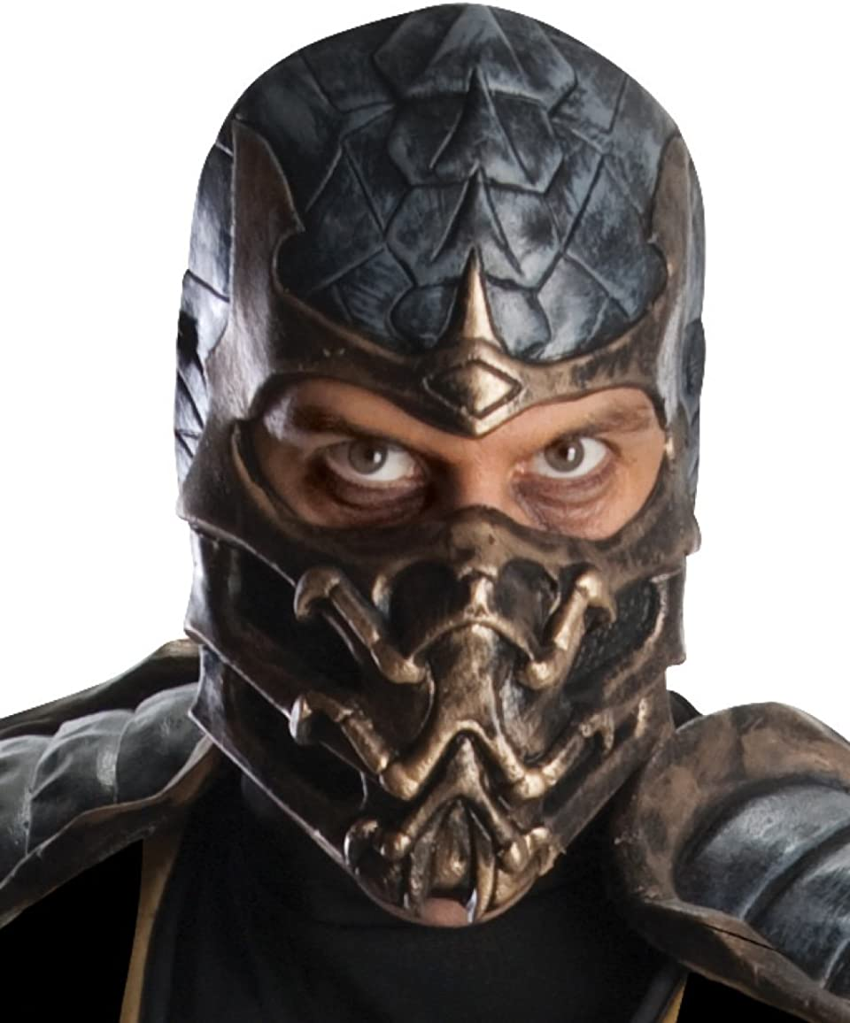 Amazon Com Rubie S Mortal Kombat Deluxe Overhead Scorpion Mask