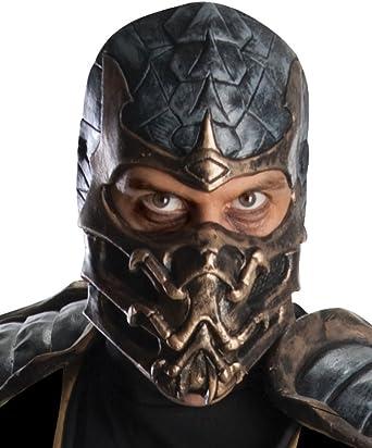 Amazon Com Rubie S Mortal Kombat Deluxe Overhead Scorpion Mask