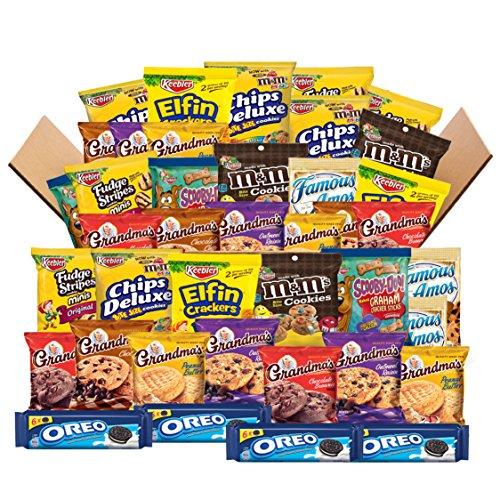 Sweet Cookies Care Package Variety Pack Bundle Includes Grandma's, Famous Amos, M&M, Oreos, Keebler & More Bulk Sampler (40 (1 Ounce Custom Chocolate)