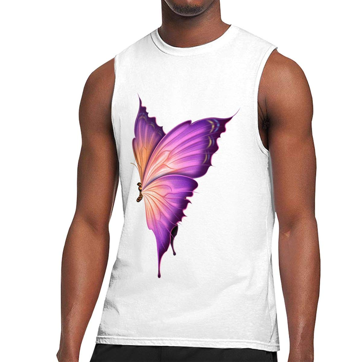 S Muscle Tank Top Softball Butterfly Gym Trainingtech Running Activewear Shirts