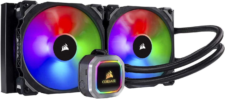 Corsair H115i, Refrigerador Líquido, dos ML PRO 140 mm RGB PWM Ventiladores, Iluminación RGB, Control de Ventiladores con Software, 280 mm Radiador, Negro RGB