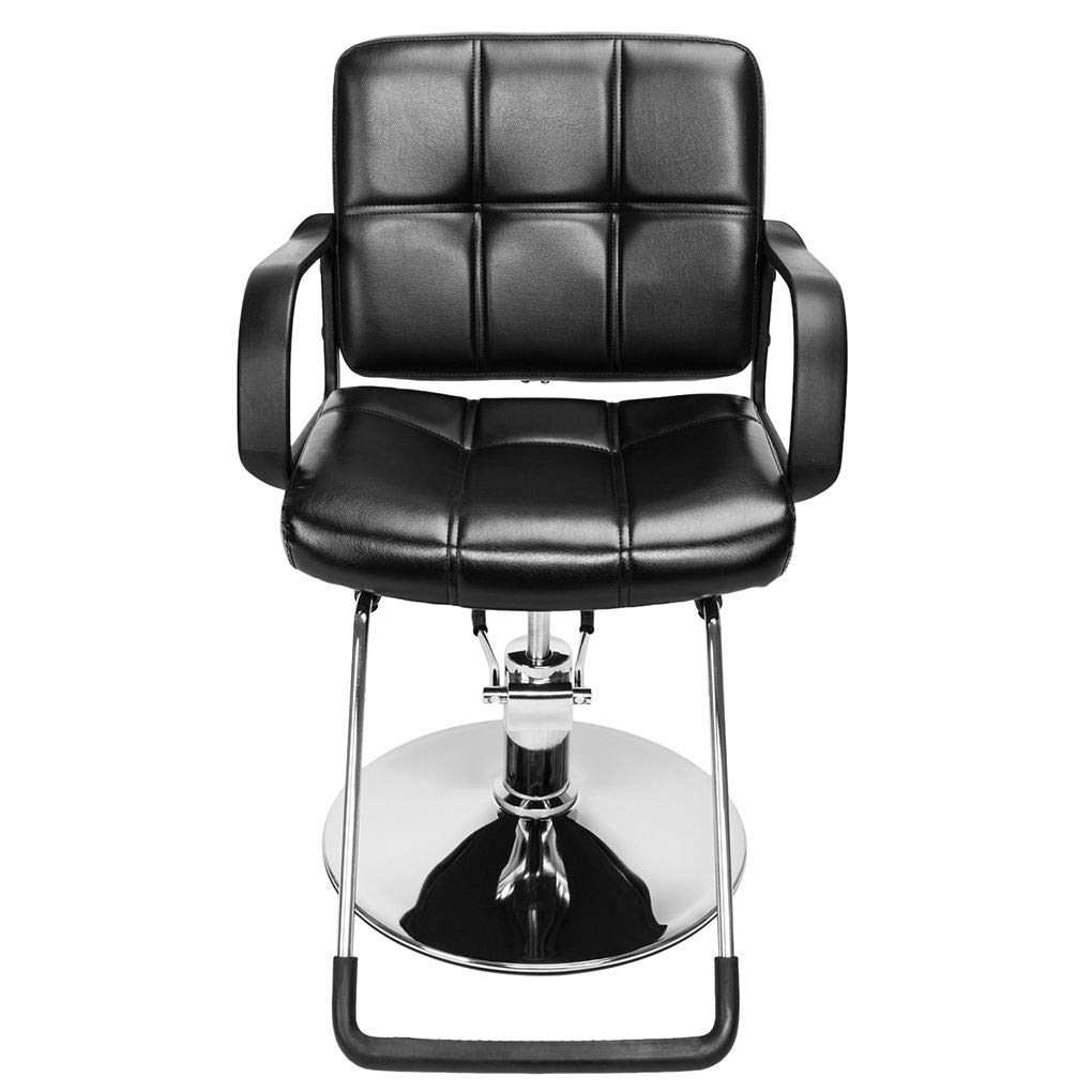AUWU Heavy Steel PVC Leather Barber Chair Adjustable Salon Beauty Spa Chair Styling Equipment