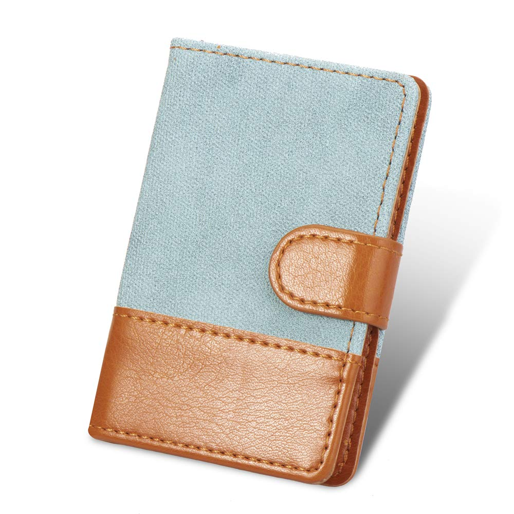 Cell Phone Card Holder, Stick on Wallet for Back of Phone, 3M Adhesive Ultra Slim Phone Pocket ID Credit Cards Holder Sleeves Pouch Stick-On Card holder Universally fits most Cell Phones & Cases -Blue