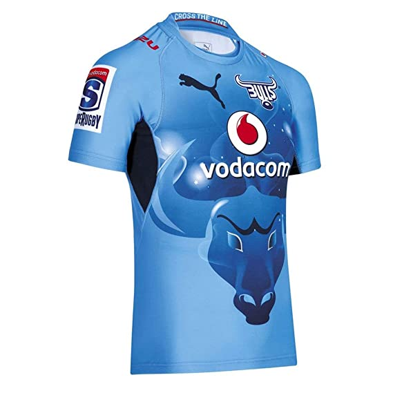 0a380979590 Puma Blue Bulls Home SuperRugby Replica Shirt Kids [Blue] - 32/34:  Amazon.co.uk: Clothing