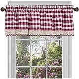 Buffalo Check Plaid Gingham Custom Fit Window Curtain Treatments By  GoodGram   Assorted Colors, Styles U0026 Sizes (Single 14 In. Valance, Burgundy)