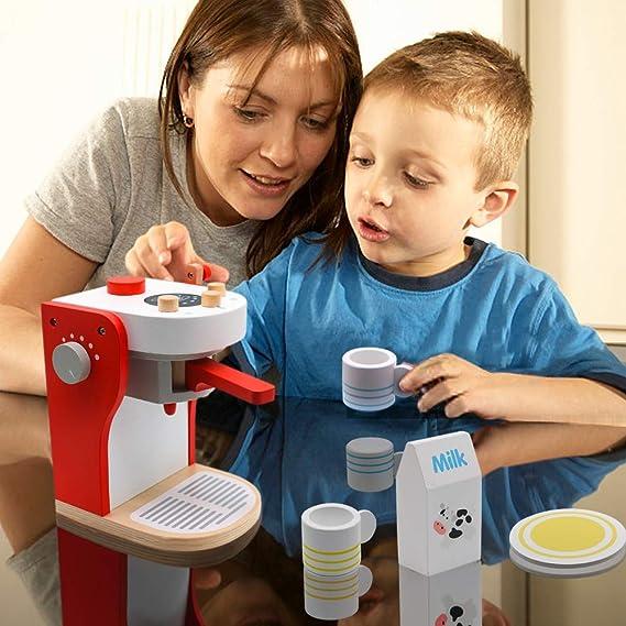 PL Cafe Juguete Madera Cafetera Tacitas de Cafe Juguetes Cocinas Infantiles Juegos del rol para Niñas Niños 3 4 5 6 Años: Amazon.es: Juguetes y juegos