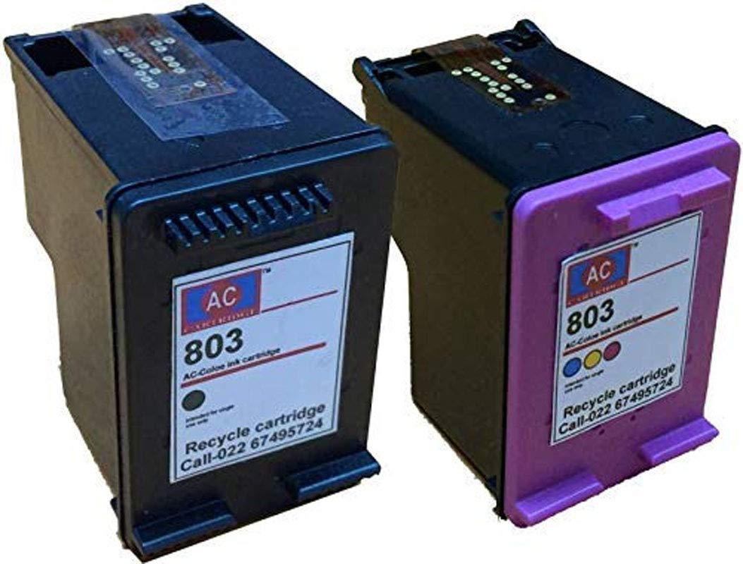 Amazon price history for AC Cartridge 803 Black & Tri-Colour Combo Pack Ink Cartridge Compatible for HP Deskjet 1112/2131/ 2132 Printer