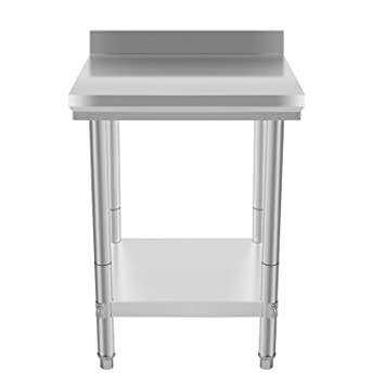 vevor nsf stainless steel work table 24 x 24 inches prep work table for commercial kitchen