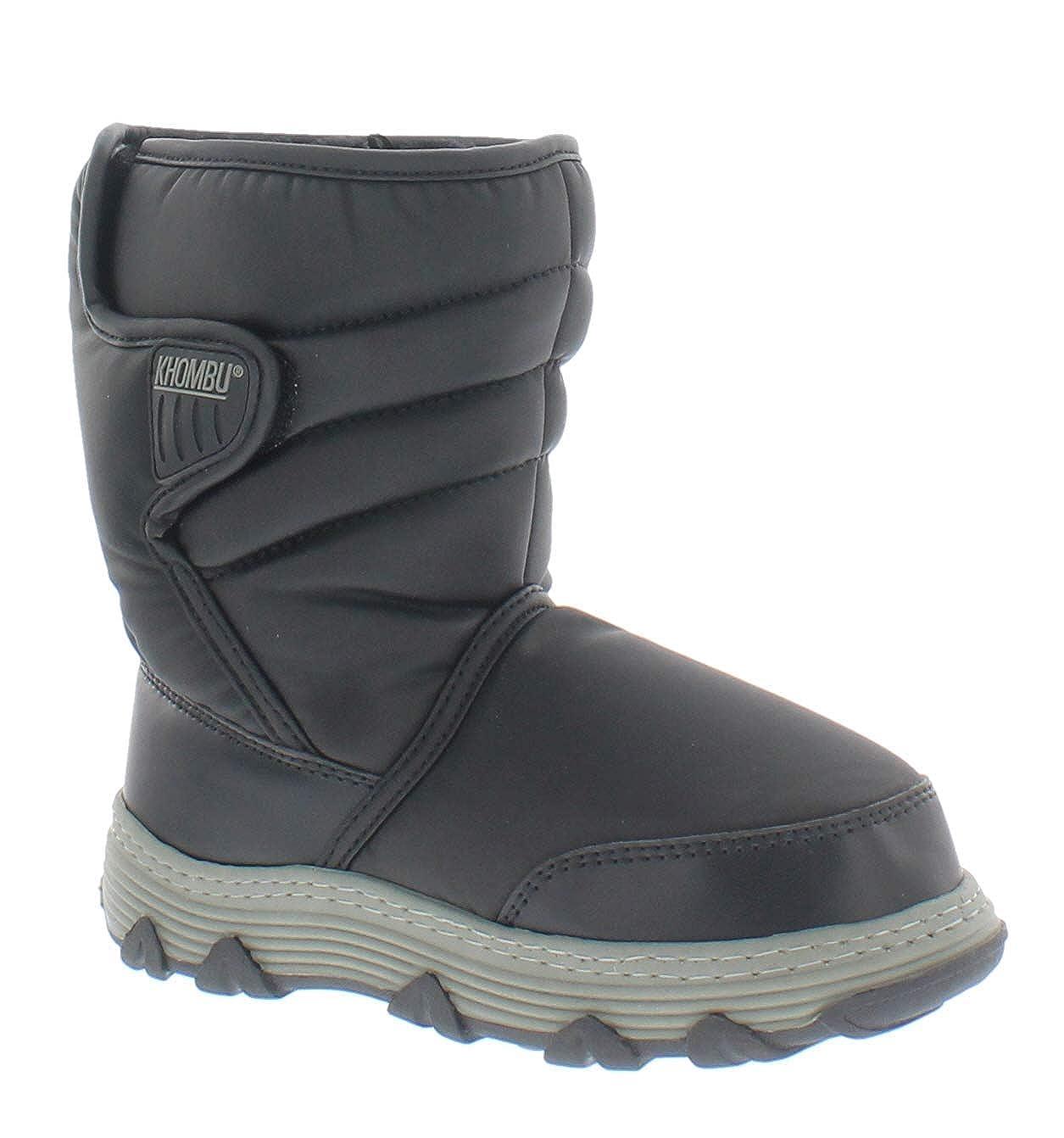 Khombu Boys Jiminy Boots Black 2 /& Knit Cap Bundle