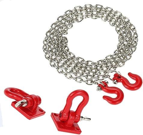 1/10 Crawler accesorio resistente gancho cadena de remolque ...