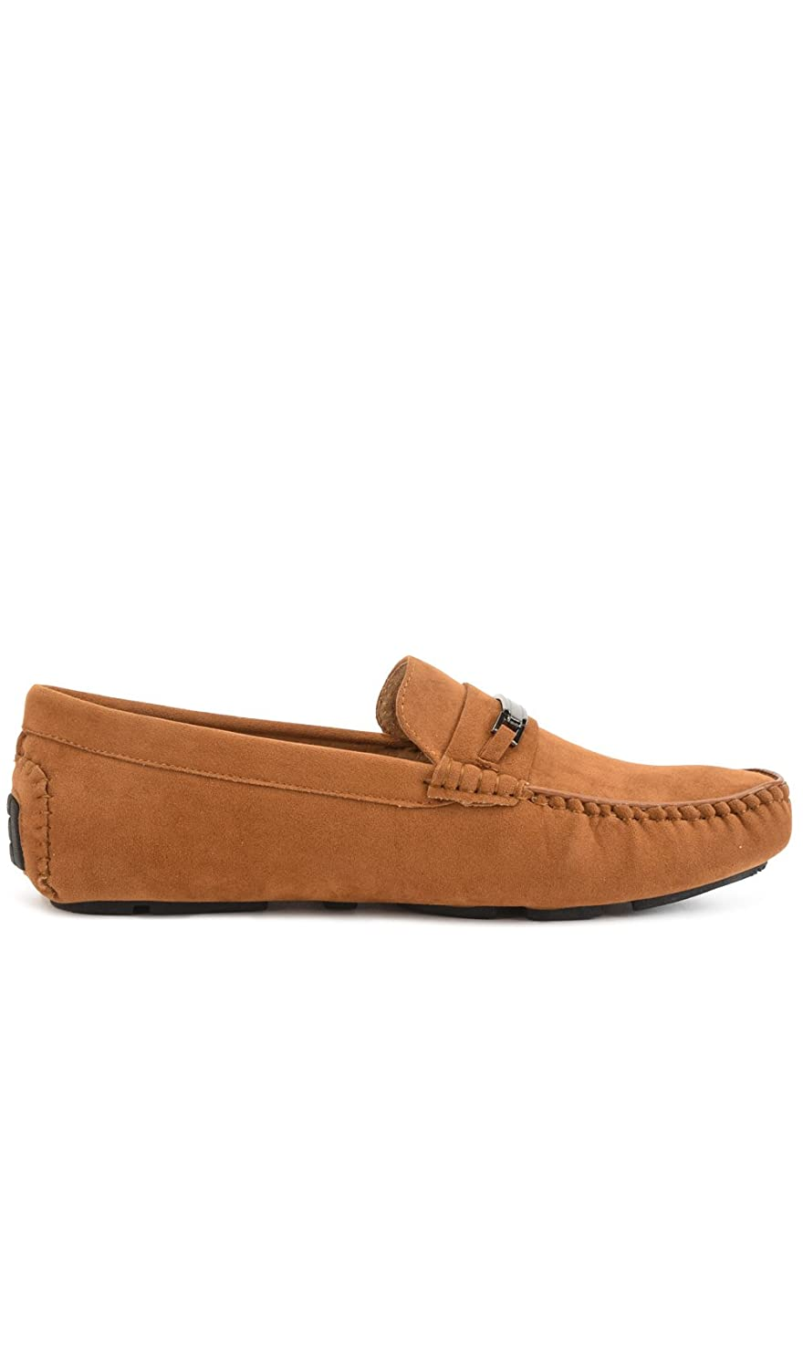 Amazon.com | Reservoir Shoes Moccasin with Square Toe Perm Men Camel | Shoes