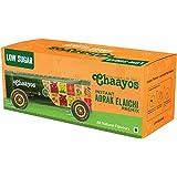 Chaayos - Instant Tea Premix Sachets - Low Sugar Adarak Elachi Flavour Chai | Ready Made 2 min Tea | High Quality Authentic Taste (15 Pieces)