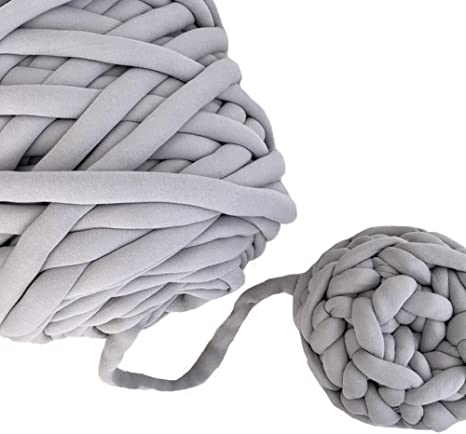 Ovillo de hilo de algodón lavable amarillo, hilo vegano grueso, hilo de algodón trenzado, hilo trenzado, hilo grueso trenzado, hilo para hacer manualidades, manta, alfombra, materiales, 20 metros: Amazon.es: Juguetes y juegos