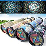 MyToy 2-Packs Kids Kaleidoscope Kit Toy Tube - Changing Scene,Colorful, Educational Toys Best Gift for Children Kid Halloween Party Favor COLORS WILL VARY.