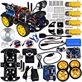 Kuman Sm3 Wi-fi Robot Car Kit for Arduino, 4 Wheel Utility Vehicle Wifi Intelligent Robotics Ds Robot Hd Camera Wireless Robot Smart Car Kit 7.4v
