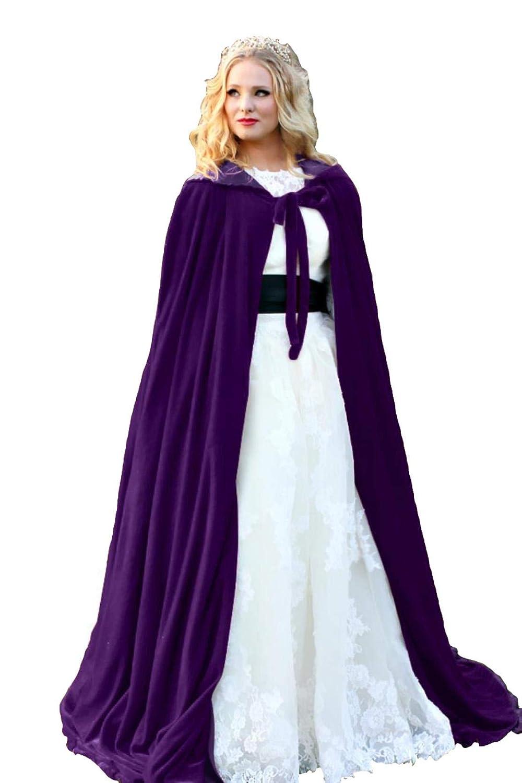 d5a9565ebec48 ShineGown Damen Kapuzen Braut Cape SAMT Lange Hochzeit Wraps Bride Mantel  Jacke Weihnachten Mäntel Halloween Kap