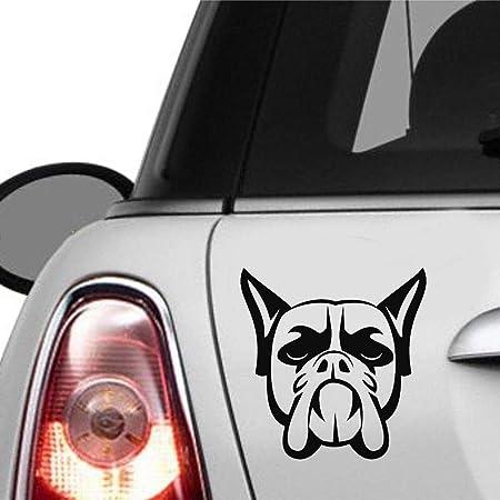 chaussure prix abordable produits chauds stickers pour voiture Boxer Chien Tête Mur Maison Fenêtre En ...