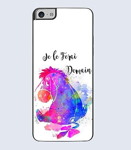 Coque iPhone Bourriquet watercolor je le ferai demain: Amazon.fr ...