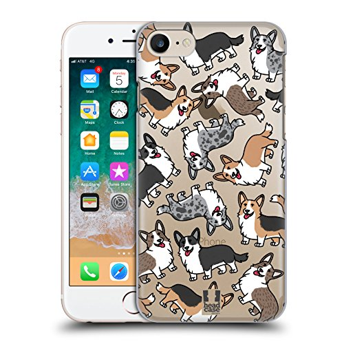 Head Case Designs Cardigan Welsh Corgi Dog Breed Patterns 10 Hard Back Case for Apple iPhone 7 / iPhone (Welsh Corgi Head)
