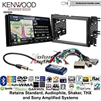Volunteer Audio Kenwood Excelon DNX994S Double Din Radio Install Kit with GPS Navigation Apple CarPlay Android Auto Fits 2007-2010 Edge (With factory amplified sound)