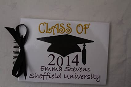 Personalised with Name Qualifications and Date The Gift Experience Handmade Graduation Album
