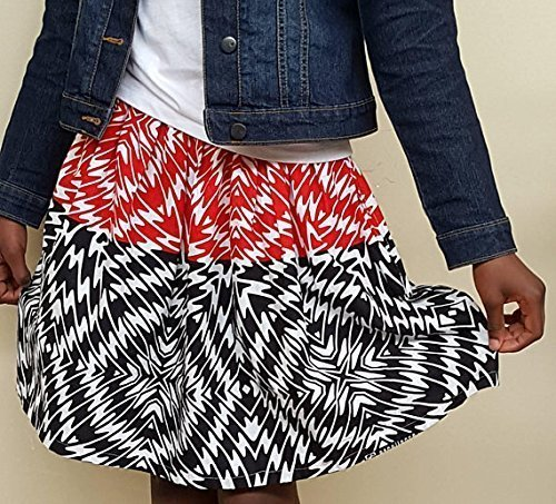 Amazon Com Girl S African Print Black Red And White Fabric