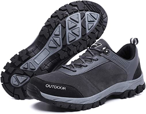 gracosy Hombres Zapatos de Senderismo Al Aire Libre Zapatos Bajos ...