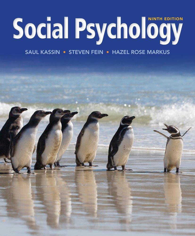 Test bank for social psychology, 8/e, kassin |.