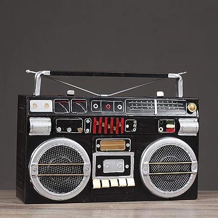 Axiba Antiguo Ornamento del Hierro Radio Modelo tamaño: 33 * 22 * 9cm