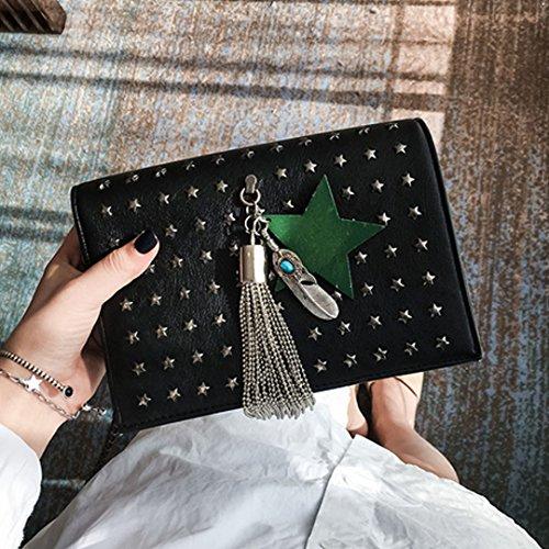 Millya - Bolso cruzados para mujer gold star sliver star