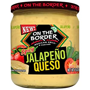 ON THE BORDER Spicy Jalapeno Queso, 15.25 Oz Jar (Pack Of 6)