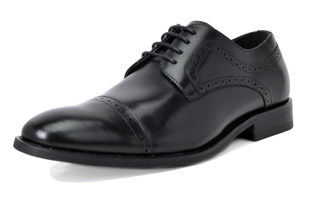 Bruno Marc Men's Waltz-1 Black Genuine Leather Dress Oxfords Shoes Size 11 M US by BRUNO MARC NEW YORK (Image #1)