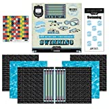 Scrapbook Customs Go Big Swimming Themed Paper and Stickers Scrapbook Kit